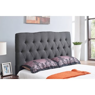 ABBYSON LIVING Aspen Charcoal Tufted Linen Headboard