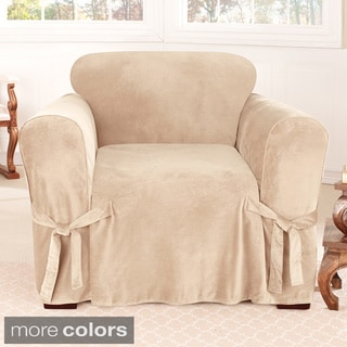 Sure Fit Soft Touch Velvet Chair Cover