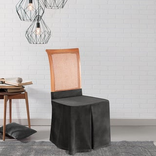 Sure Fit Soft Touch Velvet Dining Chair Skirt