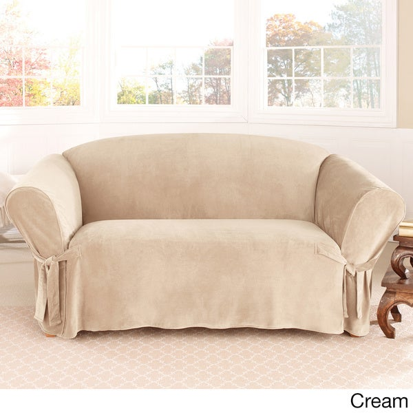 Sure Fit Soft Touch Velvet Loveseat Slipcover
