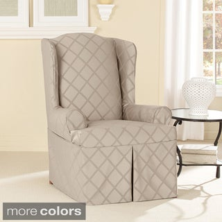 Sure Fit Durham One-piece Wing Chair Slipcover
