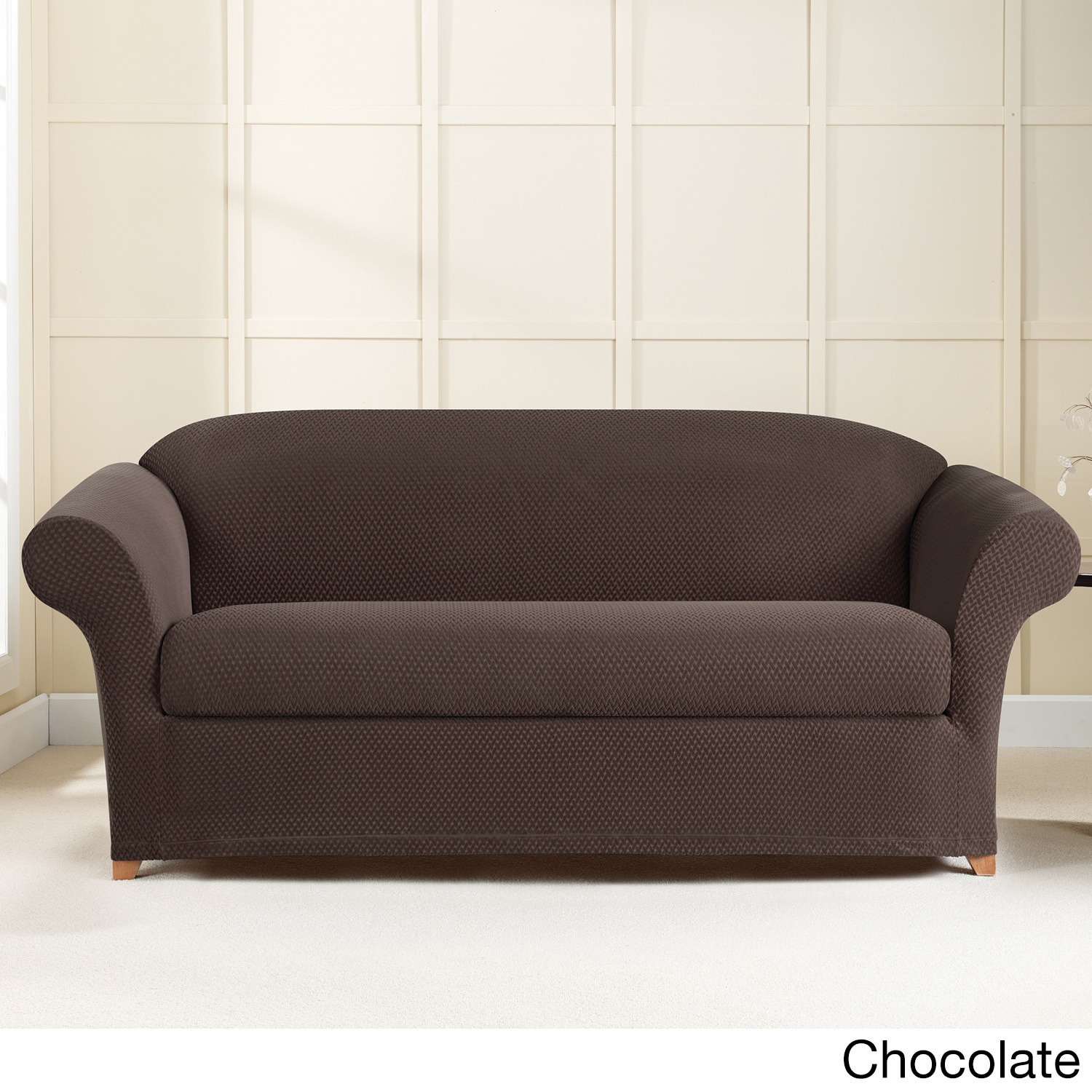 Sure Fit Stretch Brixton Sofa Slipcover Overstock