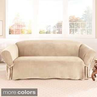 Sure Fit Soft Touch Velvet Sofa Slipcover