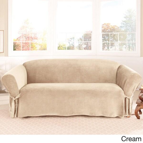 Sure Fit Soft Touch Velvet Sofa Slipcover