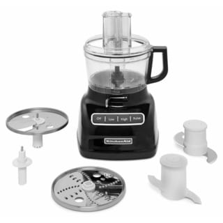 KitchenAid KFP0722OB Onyx Black 7-cup Food Processor with ExactSlice System