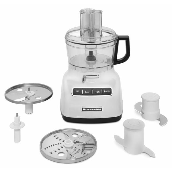 KitchenAid KFP0722WH White 7-cup Food Processor with ExactSlice System 13384863