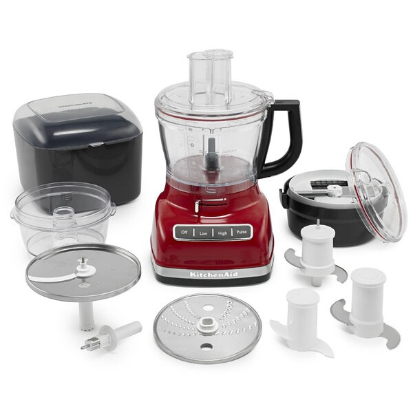 KitchenAid KFP1466ER Empire Red 14-cup Food Processor with Commercial-style Dicing Kit 13384865