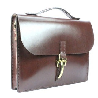 Habermas 2055 Classic British Brown Bridle Leather Briefcase