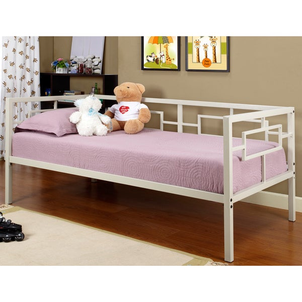 White Geometric Design Day Bed Bedroom Childrens Furniture