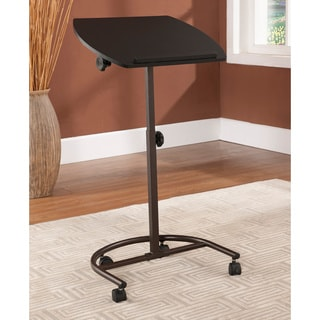 Black Portable Rolling Laptop Desk