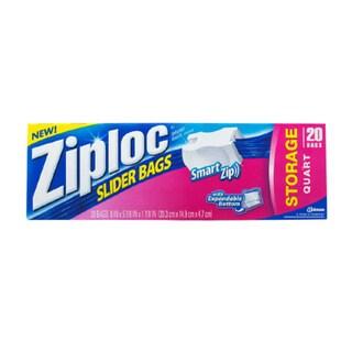 Ziploc EZ Zipper 1-quart 20-count Storage Bags (Pack of 12)