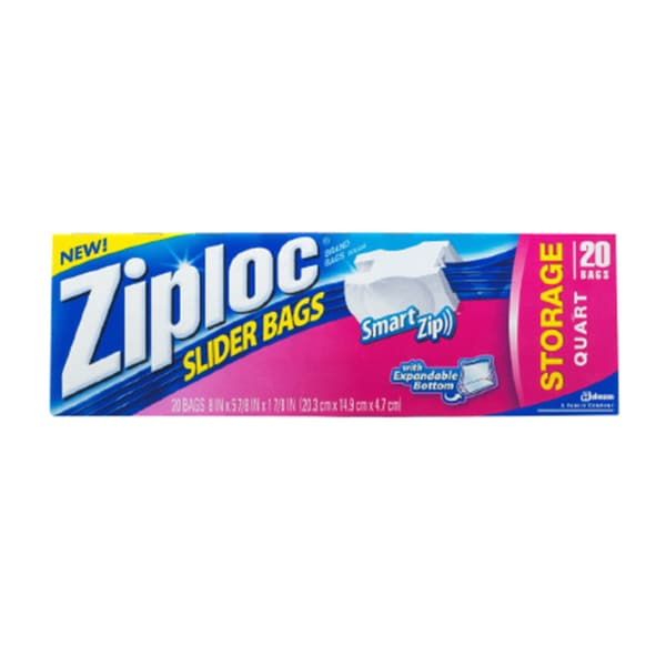 Ziploc EZ Zipper 1-quart 20-count Storage Bags (Pack of 12)
