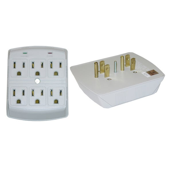 Offex MOV 270 Joules Surge Protector 6-outlet Plug