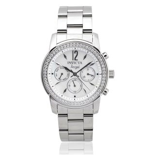 Invicta Women's 11768 Stainless Steel 'Angel' Rhinestone Chronograph Watch