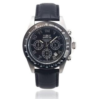 Invicta Men's 10707 Genuine Leather 'Speedway' Chronograph Watch