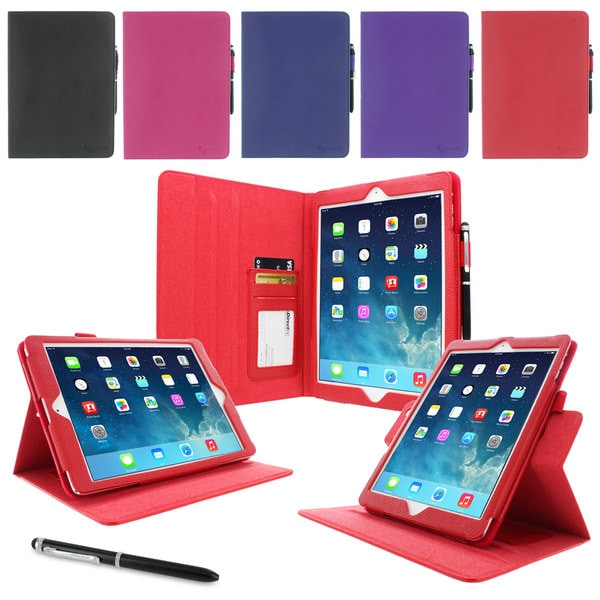 rooCASE Dual View Folio Case Smart Cover with Stylus for Apple iPad Air (5th Generation)