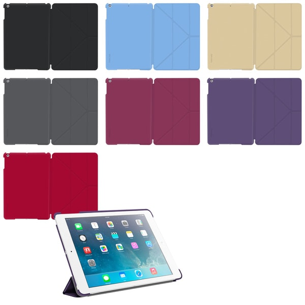 rooCASE Slim Shell Origami Folio Case Smart Cover for Apple iPad Air (5th Generation)