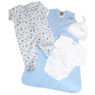 Halo SleepSack Boys' Cotton 4-piece Gift Set in Blue Dog