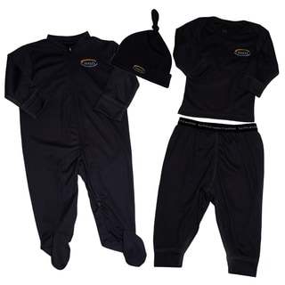 Halo Black 4-piece Clothing Set (0-3 Months)
