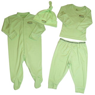 Halo Lime 4-piece Clothing Set (0-3 Months)