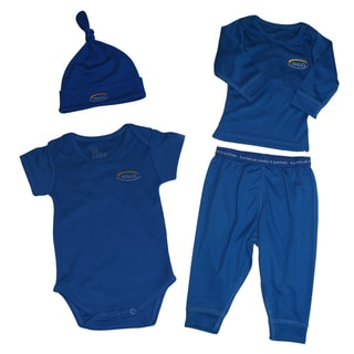 Halo Navy 4-piece Coverall Set (3-6 Months)