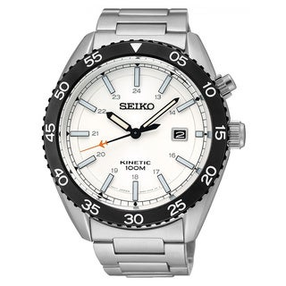 Seiko Men's SKA615P1 Kinetic White Watch
