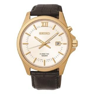Seiko Men's SKA576P2 Kinetic Gold Watch