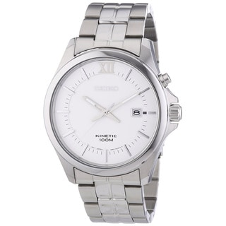 Seiko Men's SKA571P1 Classic Kinetic Stainless Steel Watch