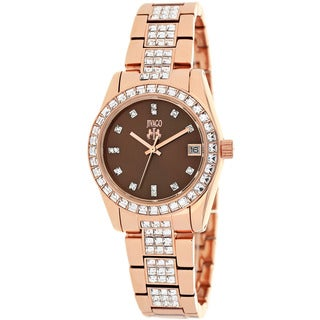 Jivago Women's Magnifique Rosetone Stainless Steel Watch