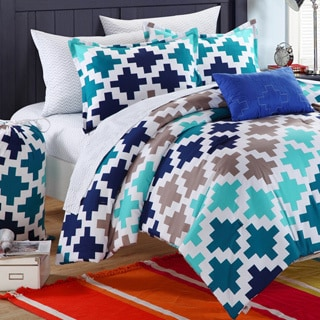 Chic Home Byte Printed 10-piece Bedding Dorm Set