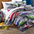 Chic Home Hero Printed White/Grey 10-piece Dorm Bedding Set