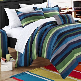 Chic Home Kyle Striped 9-piece Dorm Room Bedding Set
