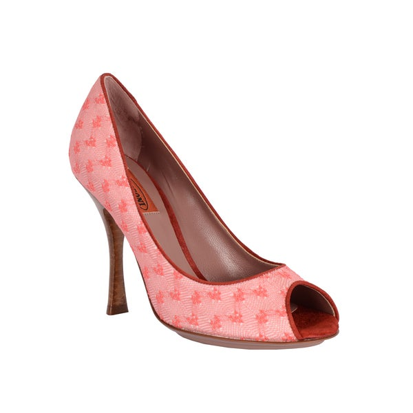 Missoni Women's Pink Floral Dots Peep-toe Dress Shoes