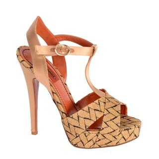 Missoni Women's T-strap Lurex Black/ Gold Sandals