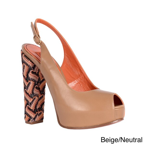 Missoni Women's Slingback Platform Peep-toe Shoes