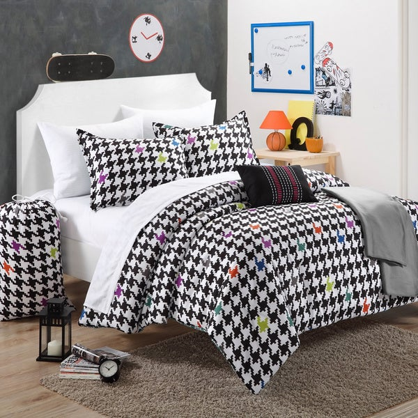 Chic Home Michelle Black/White 10-piece Dorm Room Bedding Set
