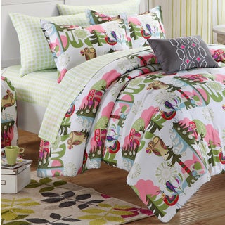 Chic Home Owl Reversible 10-piece Bedding Dorm Set