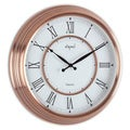 Opal Antique Copper Plated Case Round Dial Clock with Roman Numerals