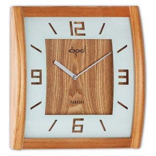 Opal Square Wooden Case Clock