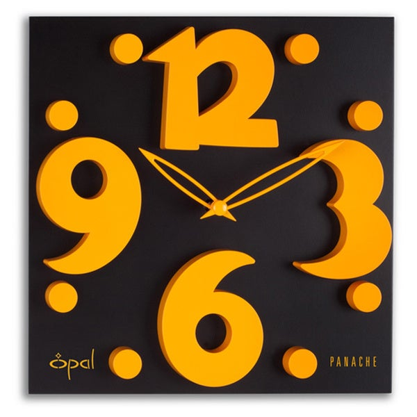 Opal Raised Figures Designer Clock