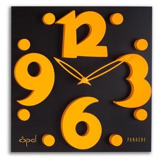 Opal Raised Figures Designer Clock