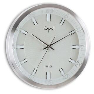 Opal Aluminium Case Round Clock