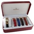 Peugeot Women's 632 Two-tone Interchangeable Leather Strap Watch Gift Set