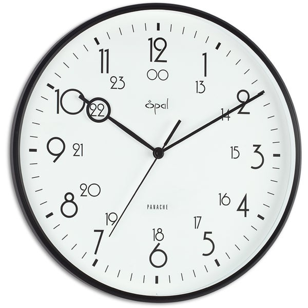 Opal Military Time Analogue Clock with Special Hands