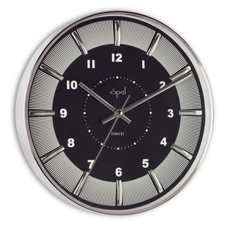Opal Stainless Steel Round Case Clock
