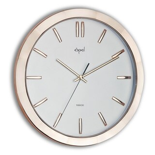Opal Rose Goldtone Clock