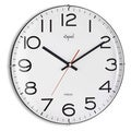 Opal White Dome Glass Clock