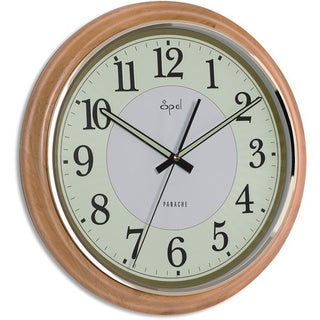 Opal Round Wooden Luminous Dial Clock