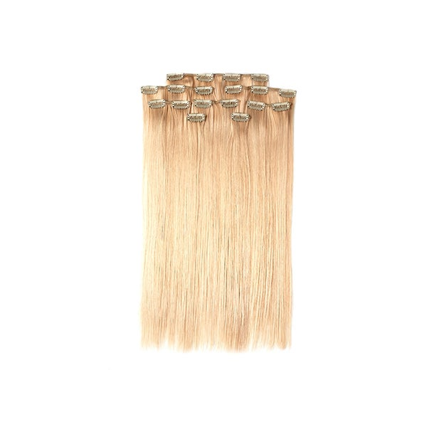 BMU Hair 18-inch 100-percent Human Hair Clip-in Extension Set