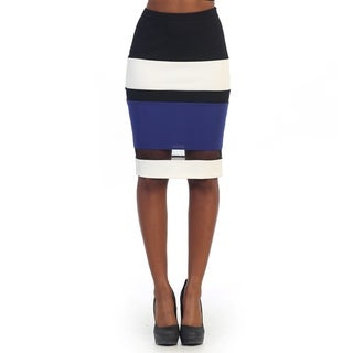 Hadari Women's Striped Colorblock Pencil Skirt